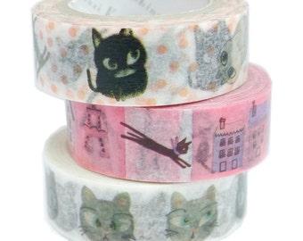 Washi Tape Japanese Masking Tape By Shinzi Katoh Designer SET 0f 3 - D
