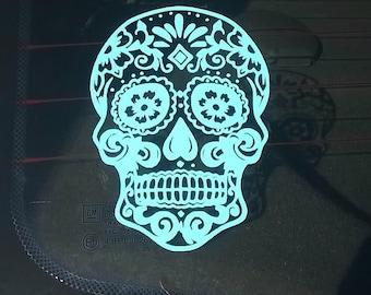Sugar Skull Car Decal, Skull Wall Decal, Skull Decal, Mexican Skull, Rockabilly Skull, Garage Decal, Skull Decor, Bedroom Decal, Floral