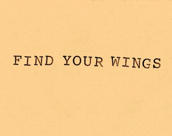 Postcard Find your wings