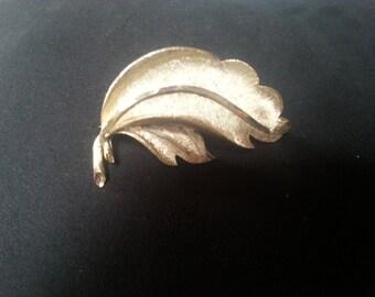 Vintage BSK Leaf Brooch