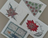 """4 pack assortment - 5""""x7"""" greeting cards"""