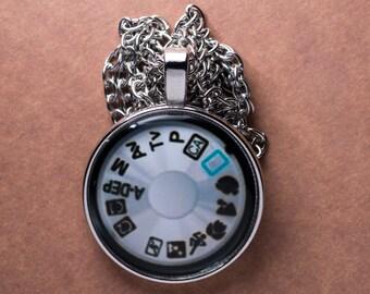 Silver Camera Cabochon with Silver Chain
