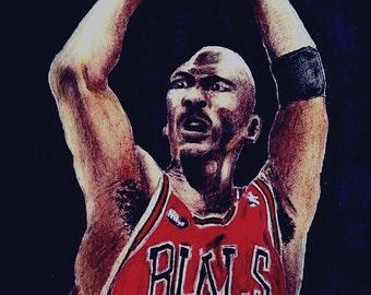 Michael Jordan Drawing (print)