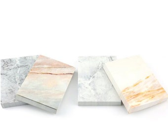 Minimalist Marble Notepad, Tear-off Notepad, Notebook - PJ094