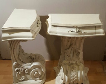 bedside tables shabby chic