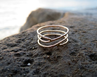 Coral Silhouette Ring