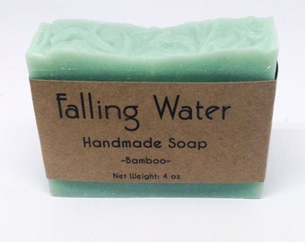Bamboo Soap Falling Water Soap Company, Handmade Soap, Homemade, Cold Proccess Soap, CP, Vegan Soap, All Natural, man men guy boy him