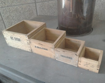 Vintage Nesting Measuring Boxes.  Bakery