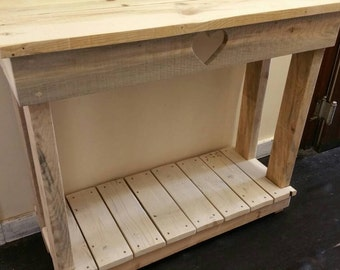 Handmade wooden console table