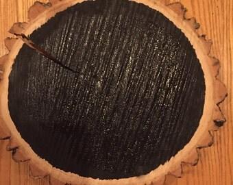 Wood Slab Chalkboard