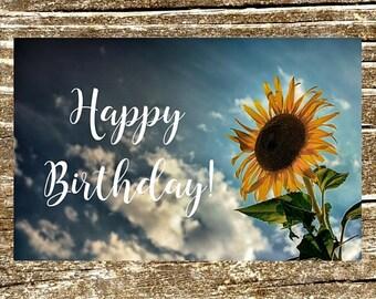 Greeting Cards, Birthday Greeting, Flower Card, Sunflower Flower, Flower Photo, Flower Card, Sunflower Card, Printable Birthday Card