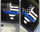 Blue Line Flag, Window Decal, Blue Lives Matter, Texas Decal, Police, Police Support, Police Lives Matter, Blue Line Decal, Back the blue