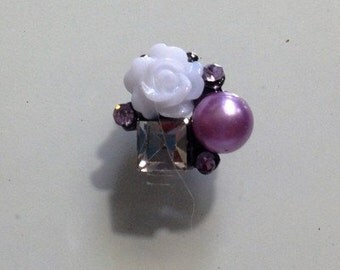 Pair, Nail Charms Purple Cluster, pair