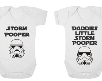 Baby Bodysuit - Novelty - Storm Pooper/Daddies Little Storm Pooper