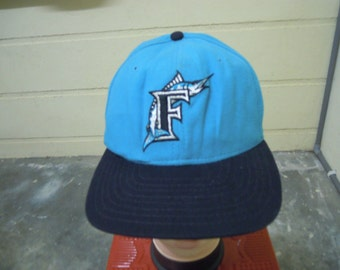 RARE Vintage FLORIDA MARLINS Baseball Cap Hat free size for all