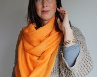 Orange Ring Pashmina Cashmere Stole