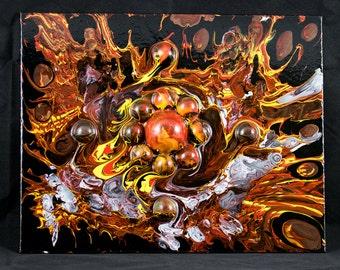 Furious Particles - Original 3d Oil Painting