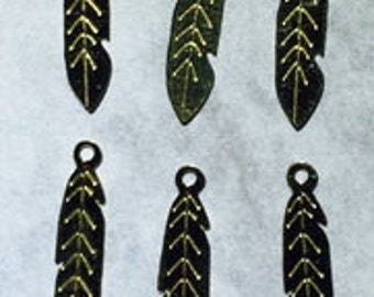 14 Karat Gold Feathers for jewelry making (findings)