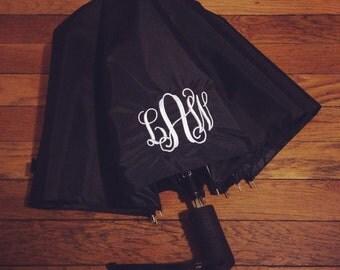 Monogrammed Umbrella (Pink or Black)