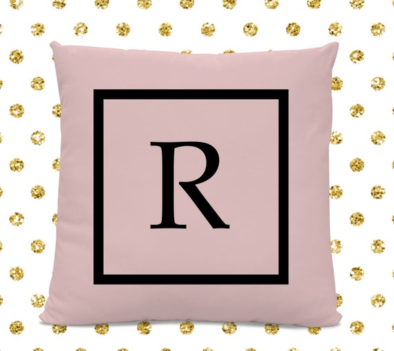 Initial Pillow Letter Pillow Pillow With Letter R