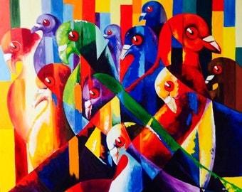 Wild pigeons