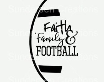 Faith Family and Football SVG & DXF Cutting File