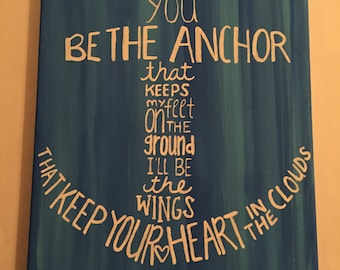 Wall Canvas Quote, Anchor