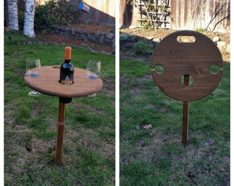 Foldable Wine Table, Portable Wine Table, Lawn Wine Table, Folding Wine Table