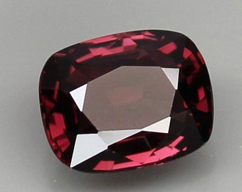 Natural Hot Pink Spinel 7.6mm 1.58CT Cushion Cut