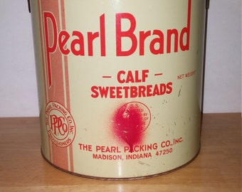 Pearl Brand Packaging Co. Sweetbreads Tin from Madison, Indiana