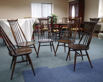 Five Ercol dining chairs