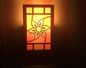 Swirling Flower Wall Sconce