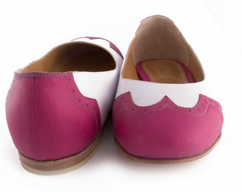 Leather handmade ballerinas