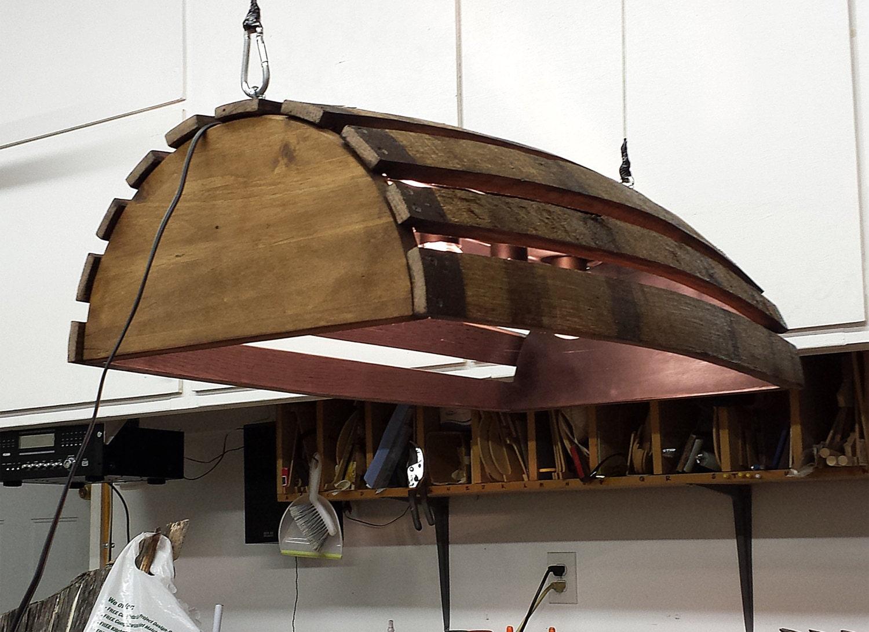 whiskey barrel pool table bar billiards hanging light fixture