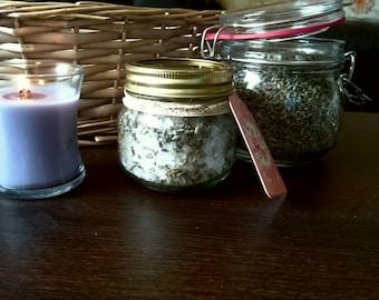 Lavender bath salts, homemade
