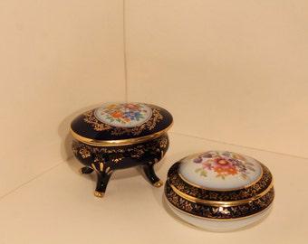 Jewellery floreal vintage - porcelain MARTINRODA 1950s original