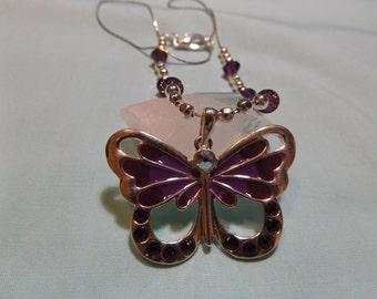 Butterfly Swarovski Pendant