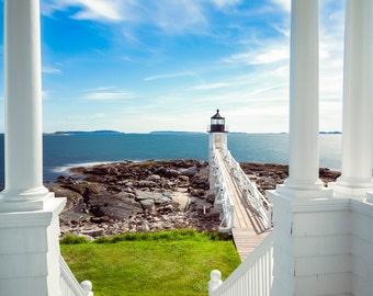 Marshall Point Light House - Fine Art Photographic Print / Port Clyde, Maine /