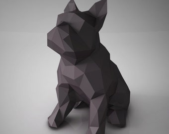 DIY PAPER SCULPTURES  - Bulldog Template