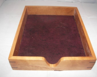 Wood Tray / Cherry Desk Paper Tray [100_1732]
