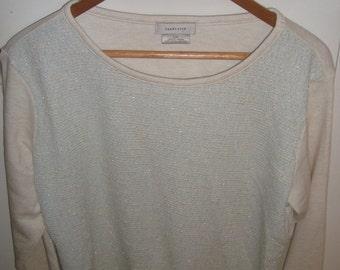 Van Heusen pull over cream colour Lg sweater