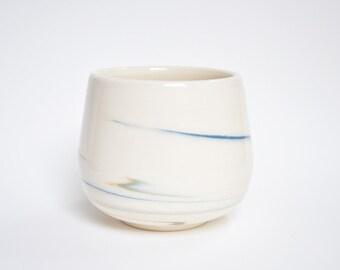 Marble Porcelain Planter Pot - Blue/Green