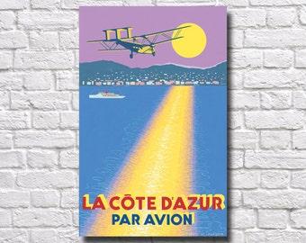 """La Cote D'Azure Travel Poster - 11"""" x 17"""" - #0141"""