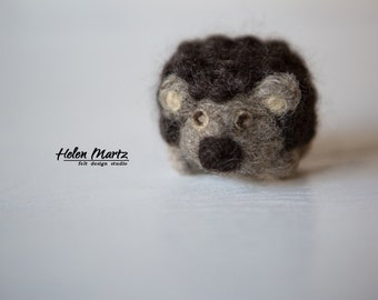 Needle Felted Hedgehog, Fiber Art,  Felted Animal, Eco Wool Hand Felted Toy, Wool Felt Animal, Collectible Toy, Needle Felted Animal