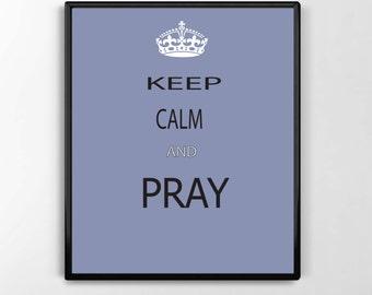 Pray, Digital Print, Art, Inspirational, Motivational,Typography
