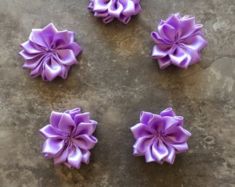 Decorative Flowers, LAVENDER, small flowers, satin flowers, wedding flowers, head band supply, head bands, silk flowers, roses, flowers