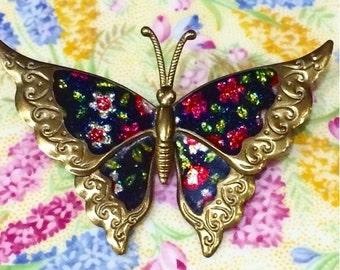 Pretty Butterfly Vintage Brooch