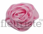 LIGHT PINK Satin Rosette, Rolled Rosette, Fabric rose, Rolled Rosette, Wholesale Flower, Fabric Flower, Wedding Flower, Flower Embellishment