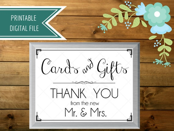 Wedding Gift Cards Online: Wedding Card Box Sign Cards And Gifts Sign Gift Table
