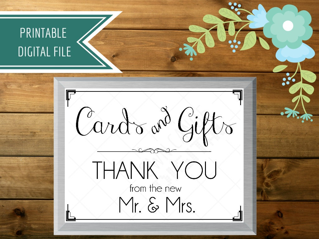 Wedding Gift Box Sign : Wedding card box sign cards and gifts sign gift table